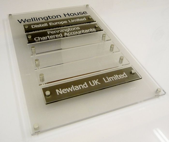Office wall signs - Shared Office Space Directory Board ...