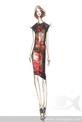 Spring 2014 Pantone Fashion Color Report Designer Sketches 02