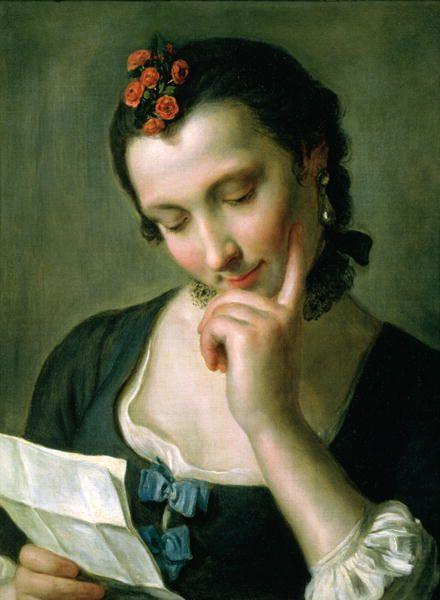 Love-letter Italian painter Pietro Antonio Rotari (1707-1762)