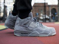 KAWS x Air Jordan 4 'Grey Suede