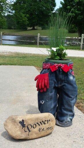 Blue Jean Planter Our Hobby Shop Pinterest Planters