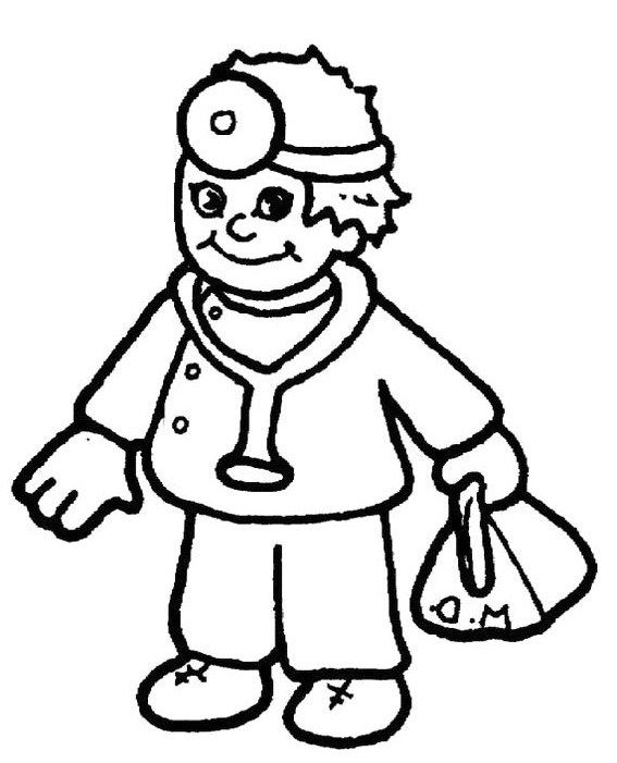 Doctor Carrying Equipment Bags Coloring For Kids Free Coloring Pictures Coloring Pages Coloring For Kids