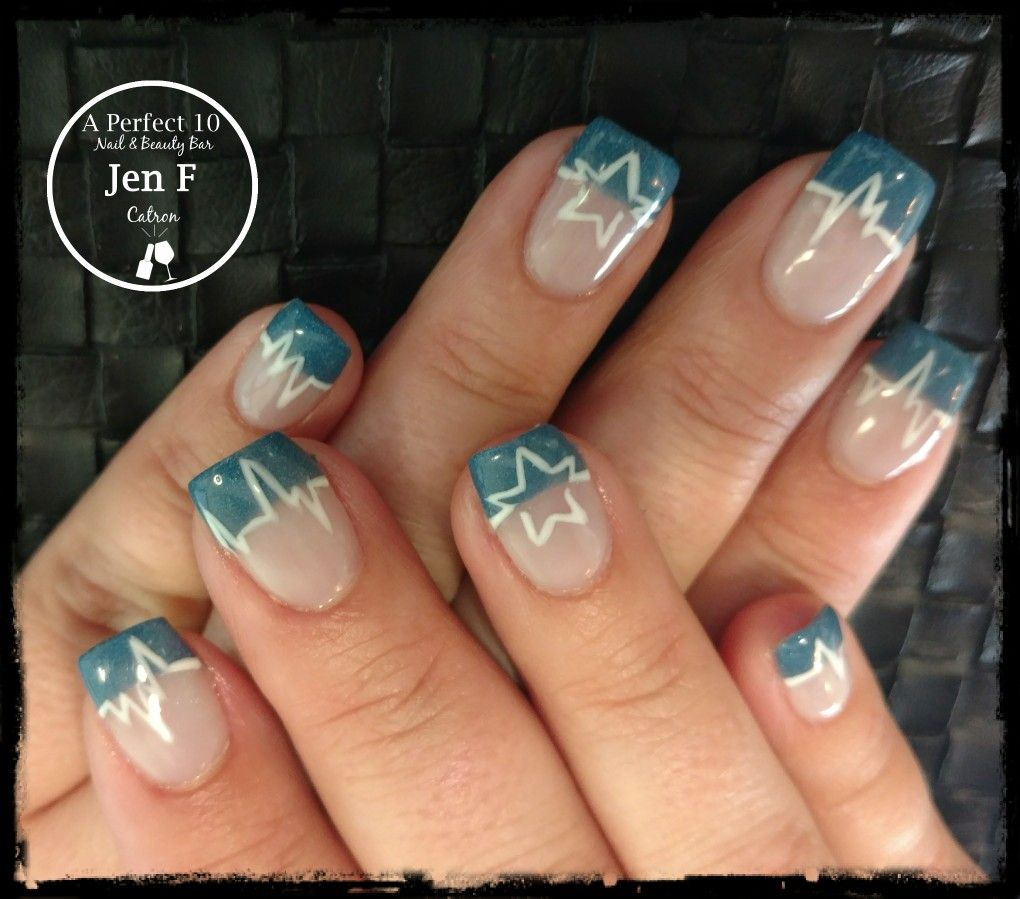 Slick Pour French with Dallas cowboys nail art | My nail art ...
