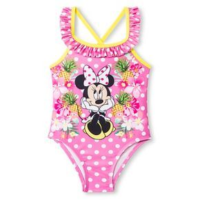 Disney® Minnie Mouse Toddler Girls' 1-Piece Swimsuit - Bubblicious Pink