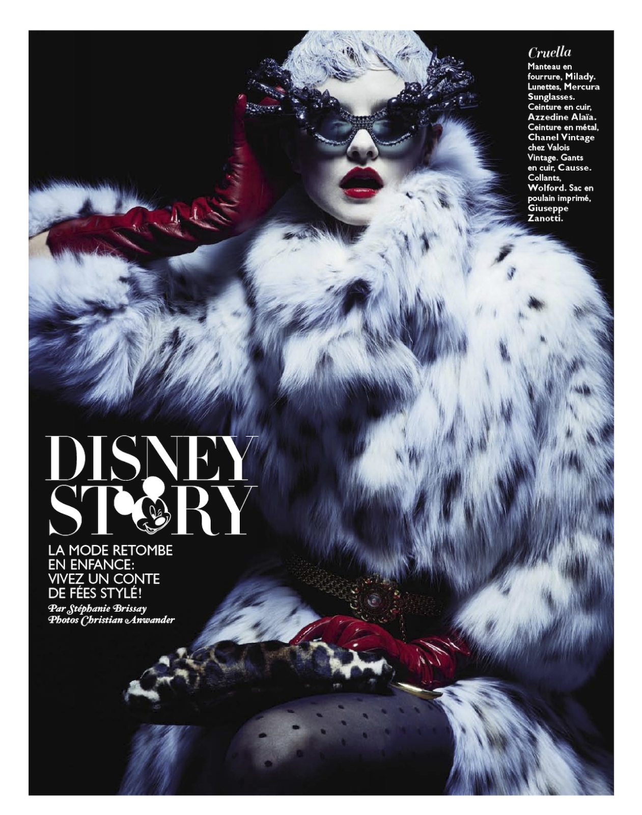 Grazie features Mercura NYC sunglasses for Giulietta Disney Story: Kamila Filipcikova By Christian Anwander For Grazia France 20th December 2013