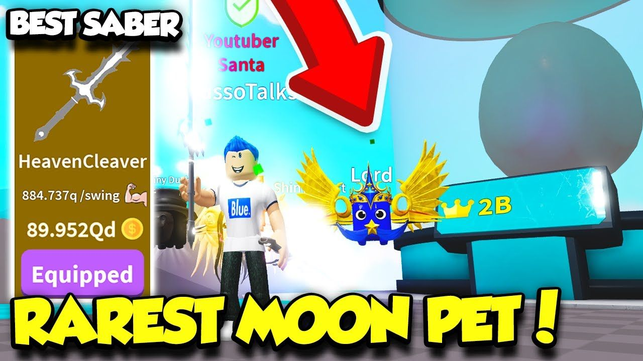 Youtube Roblox Ninja Simulator Get Robux M - I Got The Best Cleaver Saber And Rarest Moon Pet In Saber