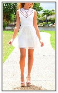 8th grade cute white dresses for graduation