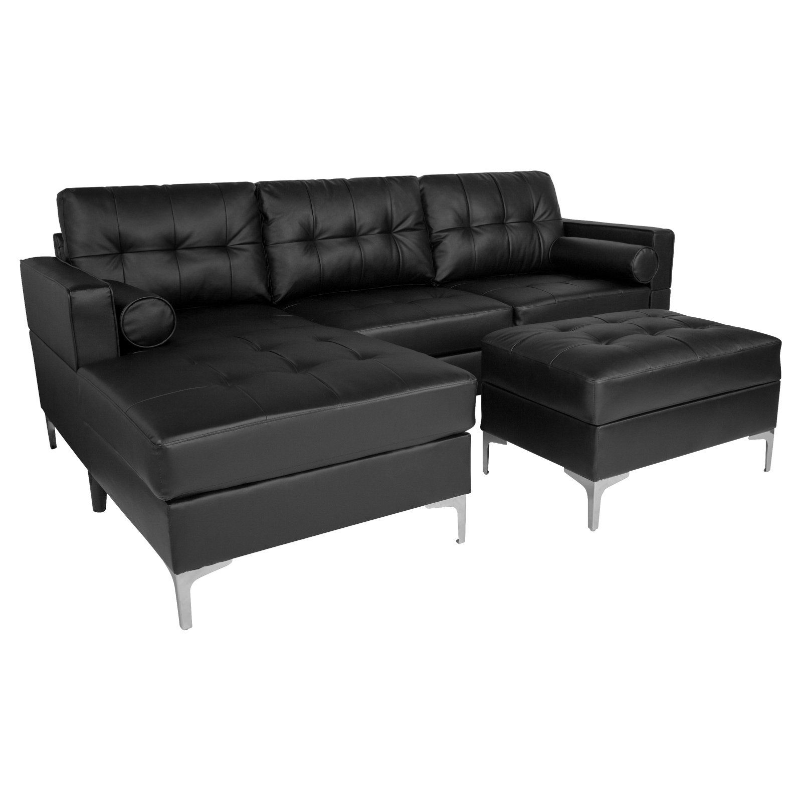Flash Furniture Riverside Tufted Left Facing Sectional