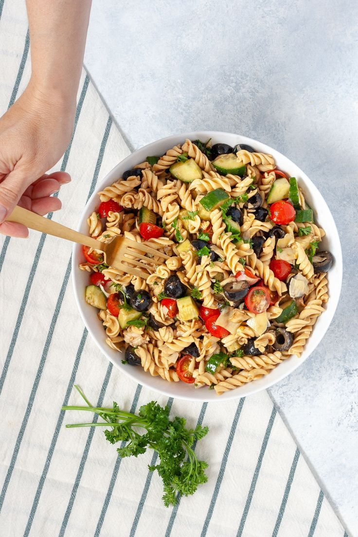 Olive And Artichoke Pasta Salad