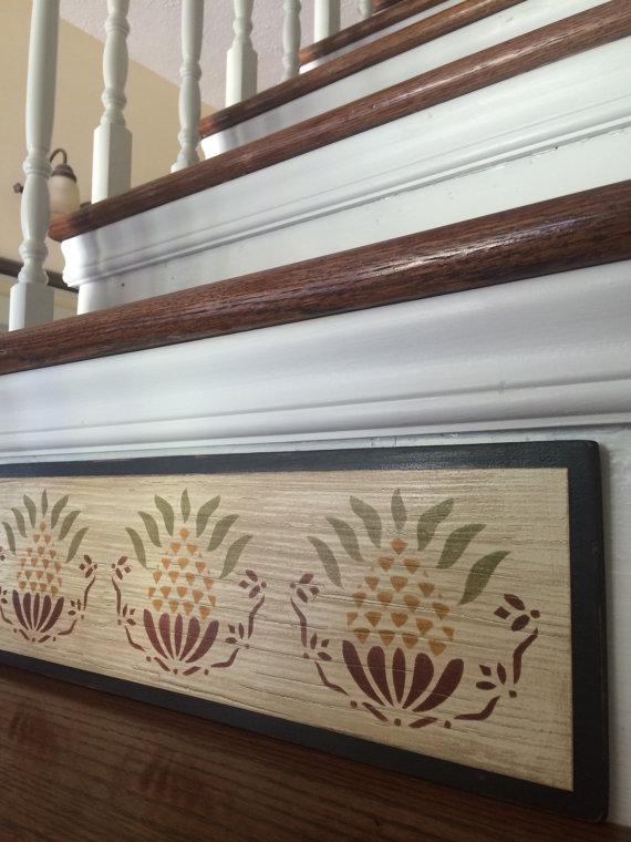 Best Primitive Decor Stair Riser Distressed Rustic Decor 400 x 300