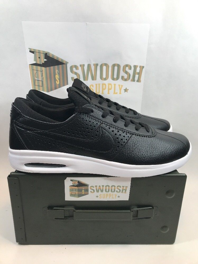f187cef61d59aa Nike SB AIR MAX Bruin Vapor Leather Shoe Black 923111 001 size 14  NIKESB   AthleticSneakers