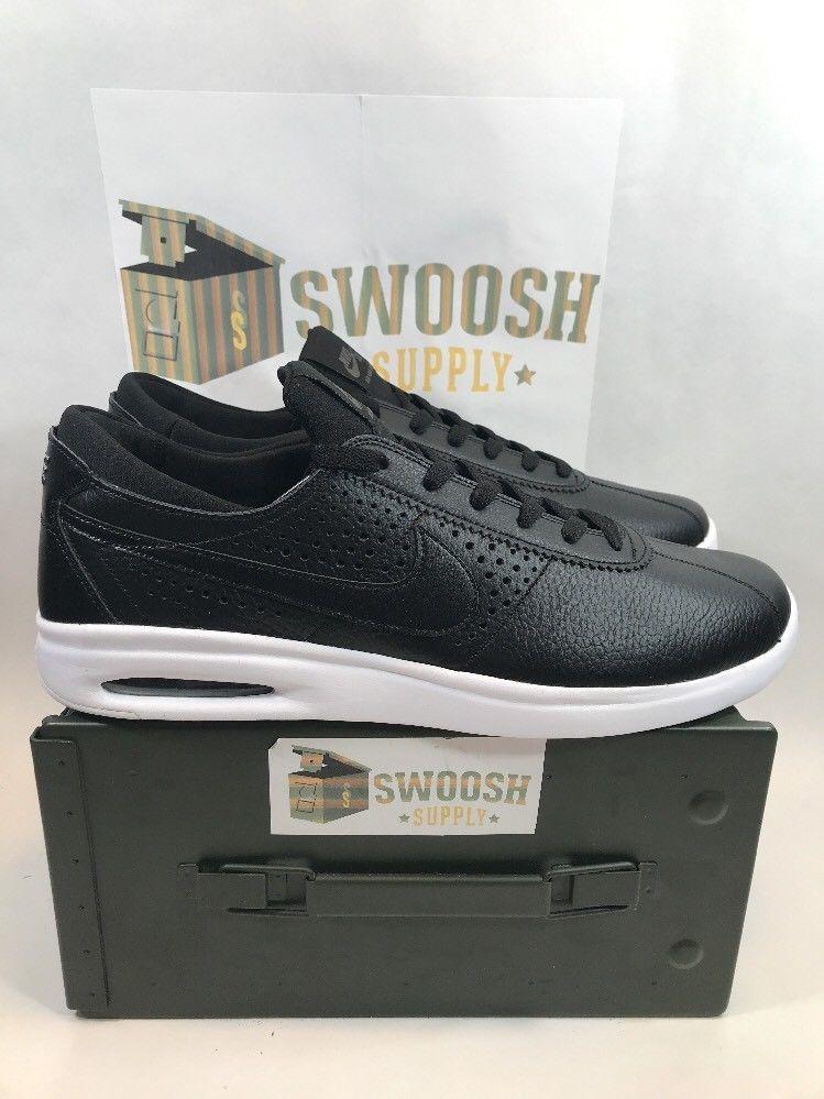 455cd2b67d7 Nike SB AIR MAX Bruin Vapor Leather Shoe Black 923111 001 size 14  NIKESB   AthleticSneakers