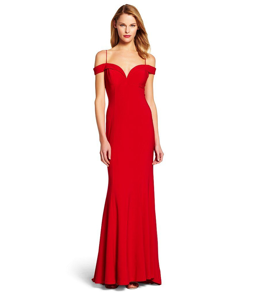 Adrianna Papell Cold Shoulder Mermaid Gown   Mermaid gown ...