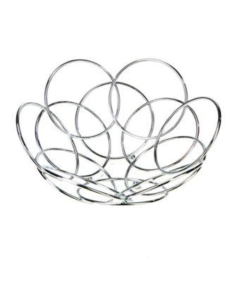 Mind Reader Modern Stainless Steel Fruit And Vegetable Basket Bowl