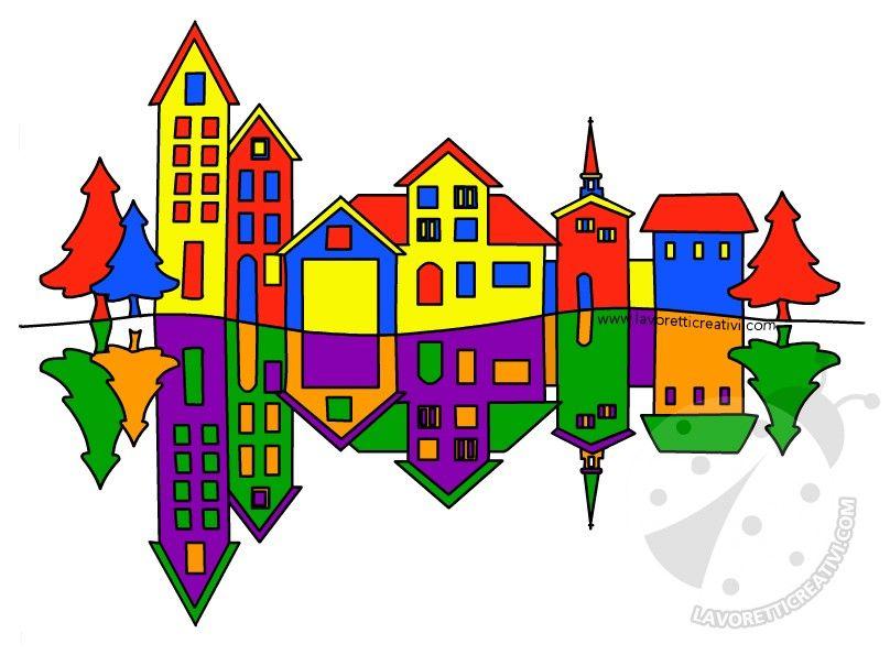 Paesaggio Con Colori Primari E Colori Secondari Immagine