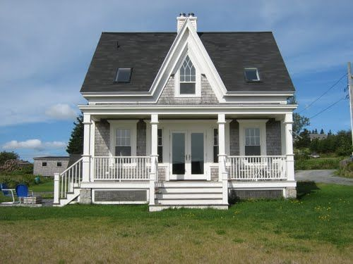 Gothic Revival Cottage In Kingsburg Nova Scotia Cottage Exterior Gothic House American Gothic House