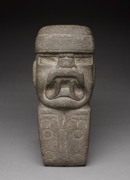 Celt with Deity, 1000-300 BC Mexico, Olmec, 1200-300 BC