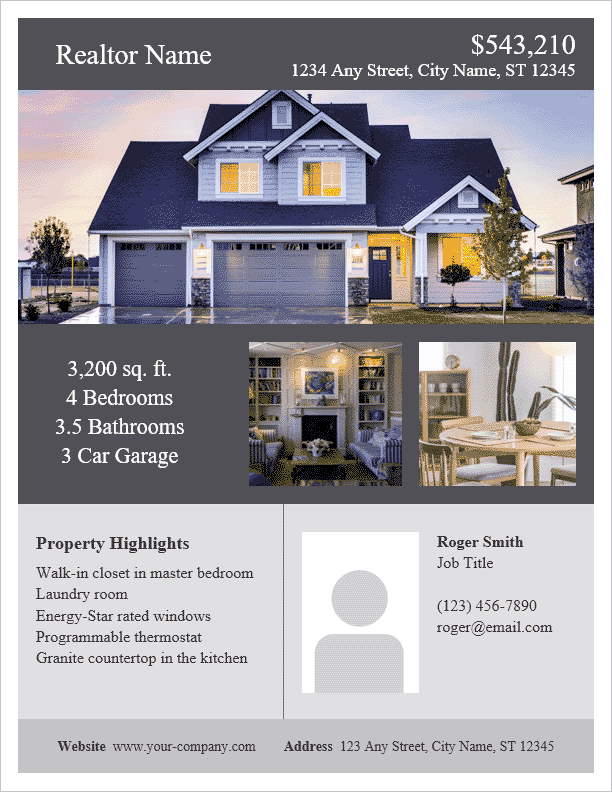 download the real estate flyer template from vertex42 com real