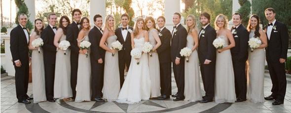 Tan Bridesmaid Dresses in Chiffon