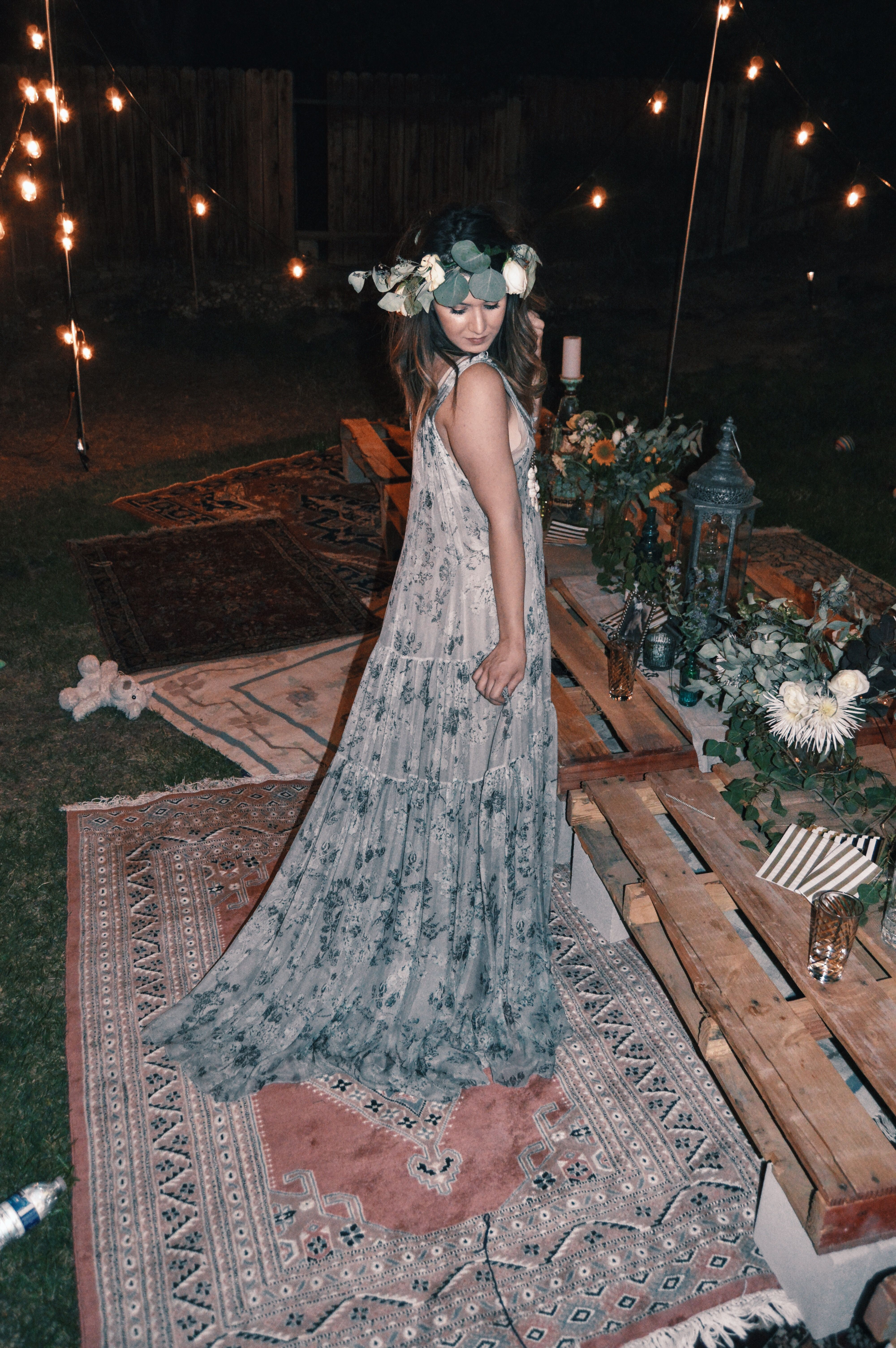 Where can i rent a wedding dress  Kyraus Bohemian Party With Rent the Runway  Boho chic Bohemian