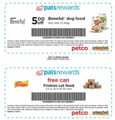 Coupons Free Stuff from Petco InStore Beneful dog