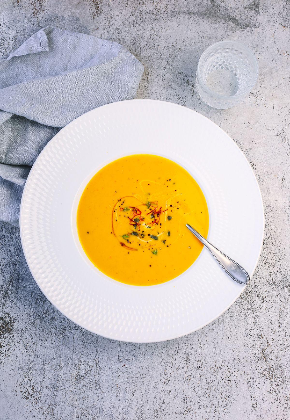 einfache Kürbissuppe – so lecker