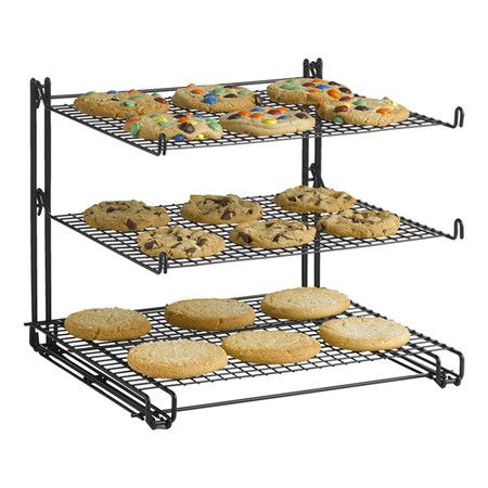 Found It At Wayfair Non Stick 3 Tier Cooling Rack With Images Glass Rack Kitchen Gear Pot Rack