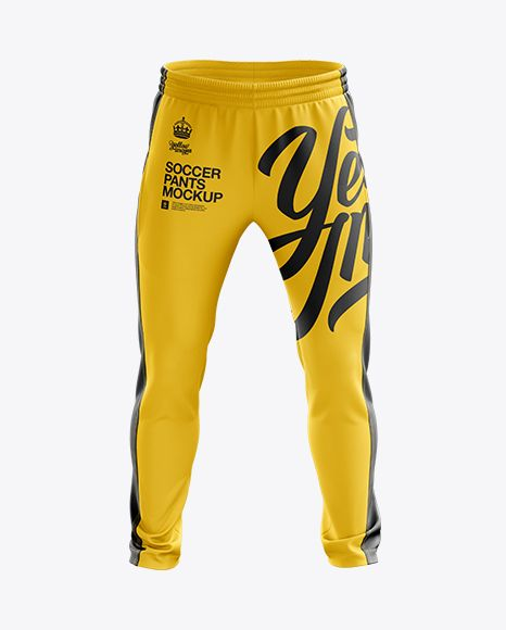 Soccer Pants Mockup - Front View. Preview