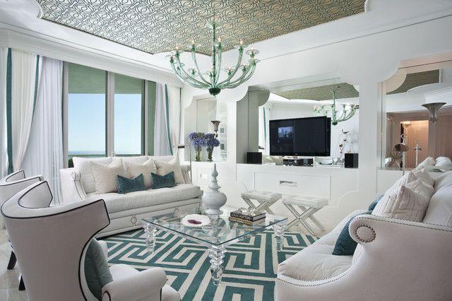 Hollywood Regency Interior Design   Eclectic   Living Room   Miami   By  DKOR Interiors Inc.  Interior Designers Miami, FL