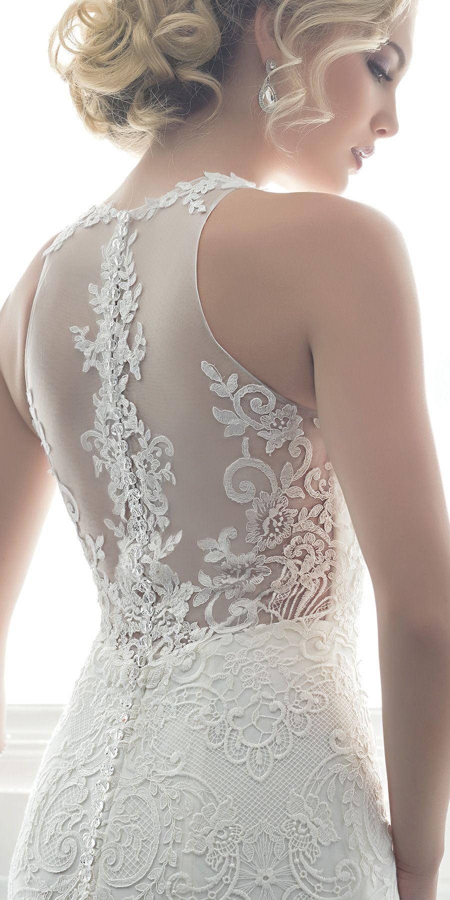 Style 15620 by Christina Wu Brides is all about the stunning floral lace and showstopping illusion back! @houseofwubrands #ChristinaWuBrides #ChristinaWu #HouseofWu #wedding #bridal #ad #weddingdress #romantic #mermaid #glambride