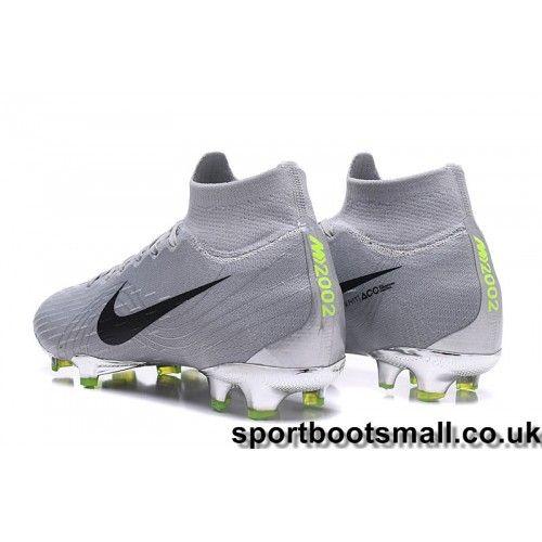 d31b8472879 Nike Mercurial Superfly VI 360 Elite FG Mens Football Boots - Grey Black Green  Clearance