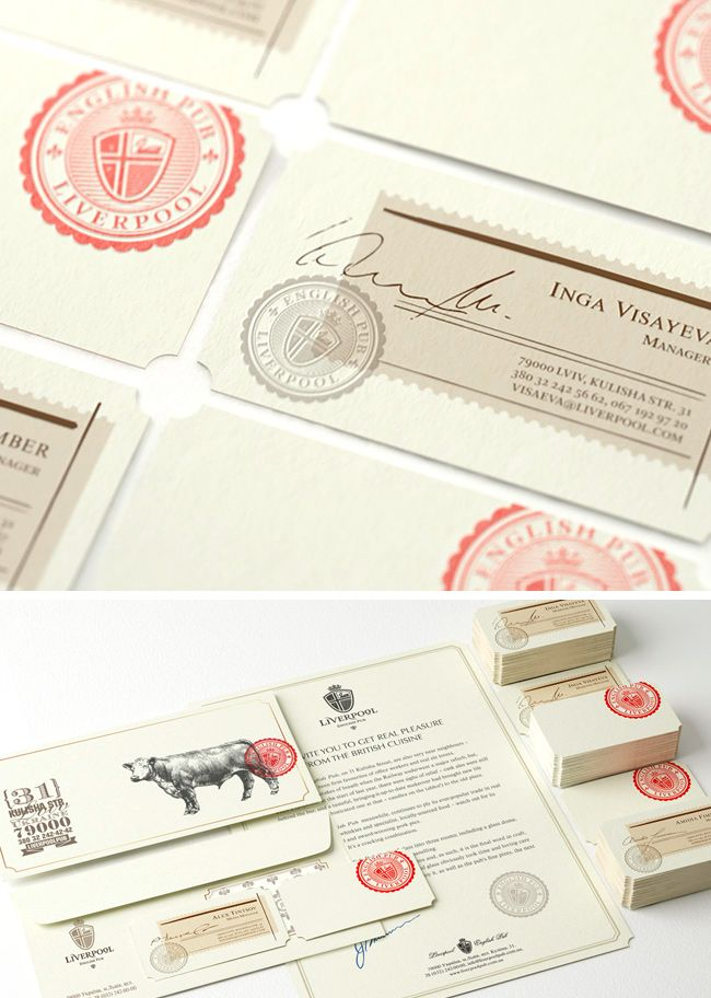 Ideas and inspiration for creating vintage business cards business the top 15 vintage business card designs stamp inspired business cards for liverpool english colourmoves