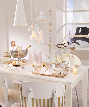 Weihnachtliche Tischdeko Gold Weiss Ist Voll Im Trend 3 Diy