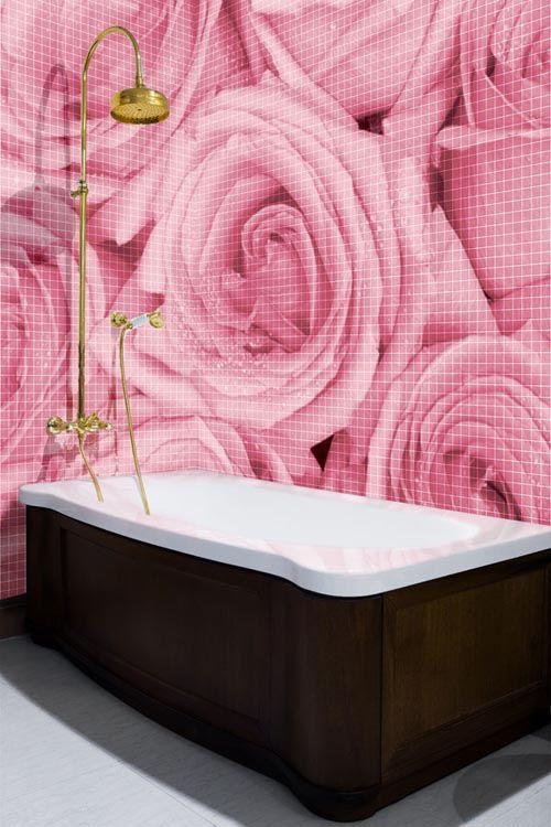 Photo Murals Mosaic Bathroom Glass Mosaic Bathroom Wall Tiles Design