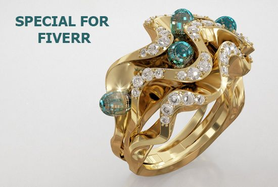 create 3D model jewelry by sketch or photo