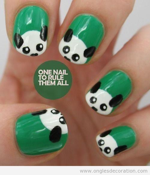 Panda Nail Design | Hawaii Kawaii Blog - Panda Nail Design Hawaii Kawaii Blog Nailed It! Pinterest