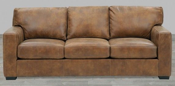 Distressed Brown Top Grain Leather Sofa | Leather Furniture ...