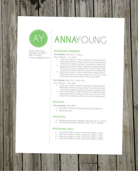 Resume Template Instant Word Document Download by ClingDesigns - resume word document download