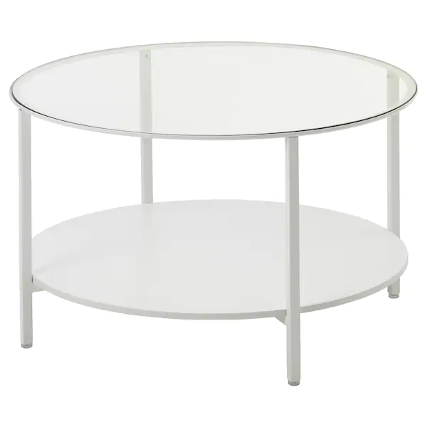 Vittsjo Table Basse Blanc Verre 75 Cm Ikea En 2020 Table Basse Blanc Table Basse Table En Verre