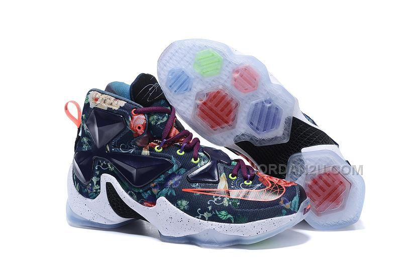 2016-2017 Sale Lebron 13 XIII EXT QS Floral Black Multi Color White New  Arrival 3bebe68cfe