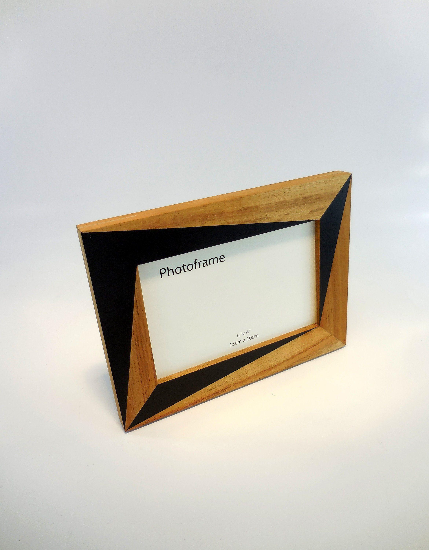 Modern Picture Frame 4x6 Picture Frame Acacia Wood Frame Natural Wood Frame Hardwood Frame Wooden Photo Frame Handmade Frame Black By F Decoracion De Unas
