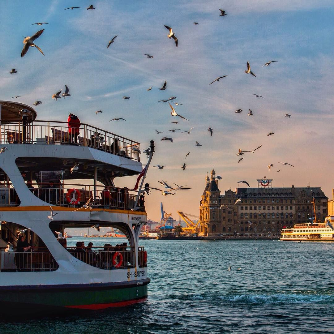 The Haydarpasa train station in Istanbul was a gift from Kaiser Wilhelm II and was the terminus for suburban trains for over a century. #Haydarpasa #Istanbul #Travel | Photo by @umutkho  #turkiye #istanbul #haydarpasa #tren #train #sun #summer #holiday #destination #visit #gototurkey