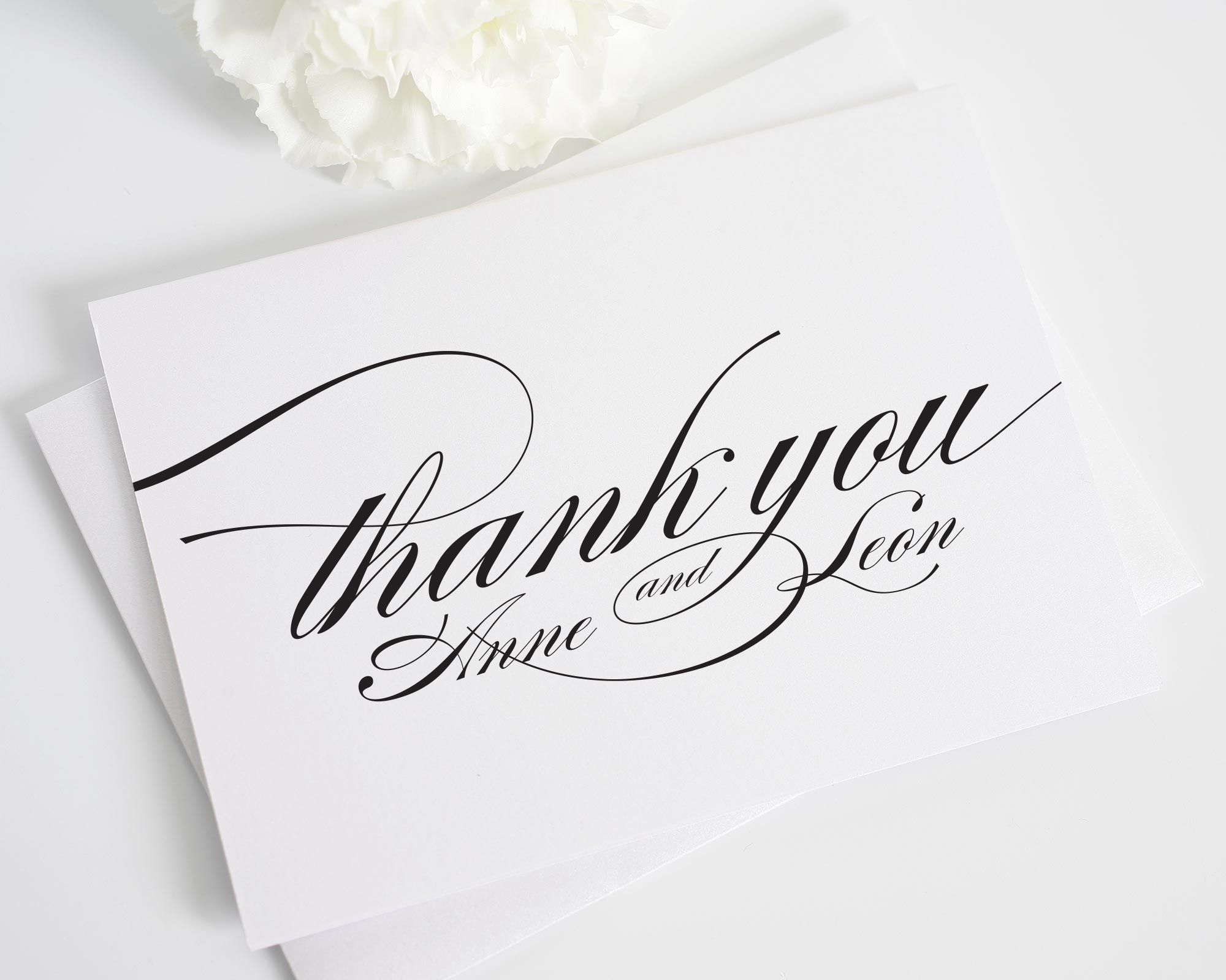 These Folded Personalized Thank You Cards Match Our Elegant Marriage Wedding
