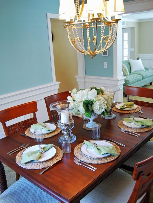 Beach Style Table Setting Rattan Charger Plates An Ocean Blue