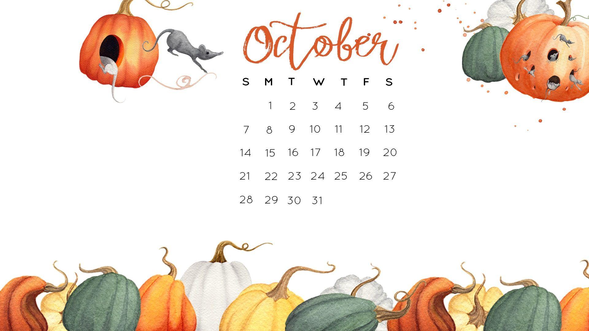 October Desktop Calendar 2018 Jpg 1 920 1 080 Pixels October Wallpaper Desktop Calendar
