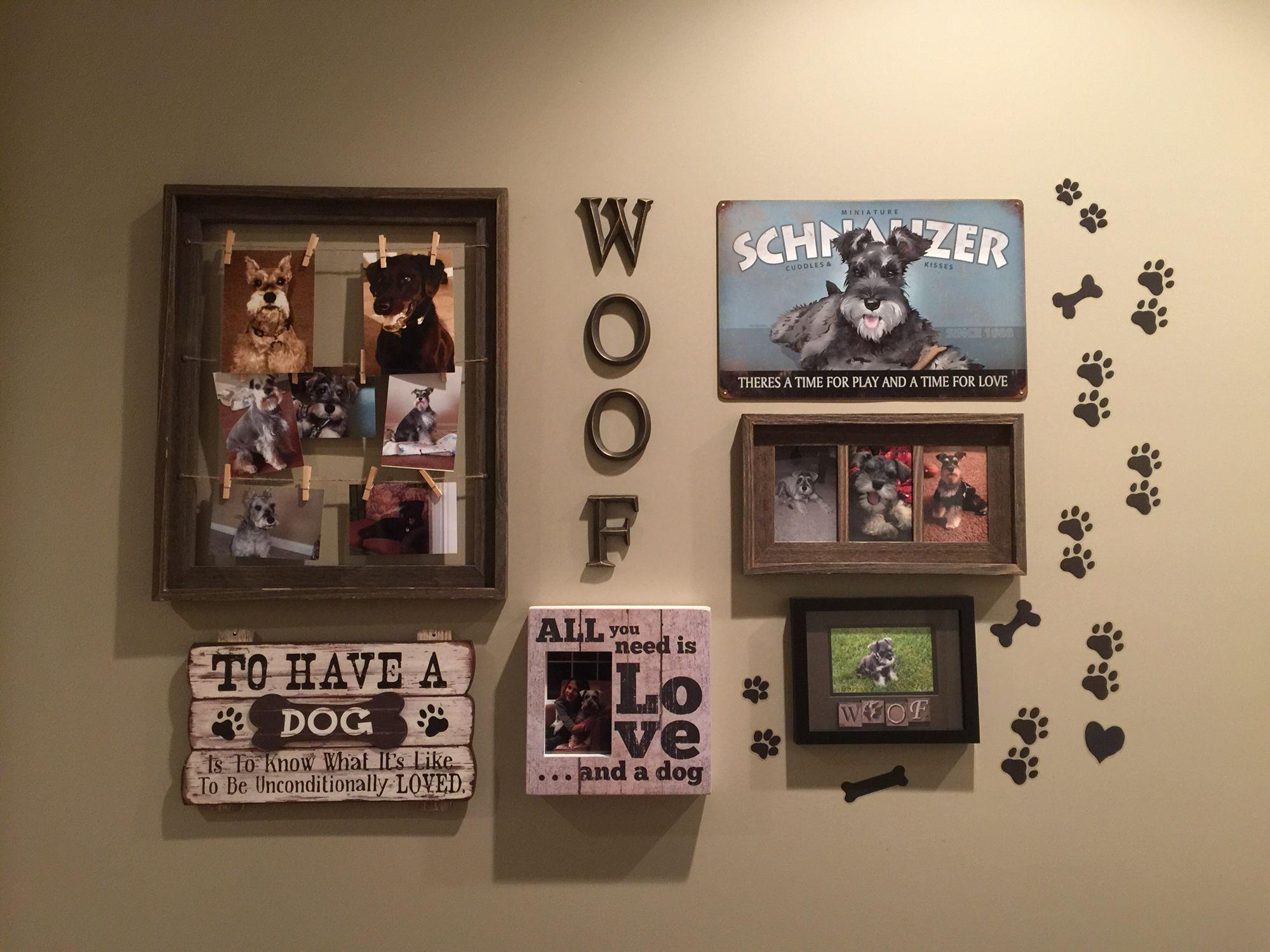 Dog Room Wall, Schnauzers, puppies, Dog Decor
