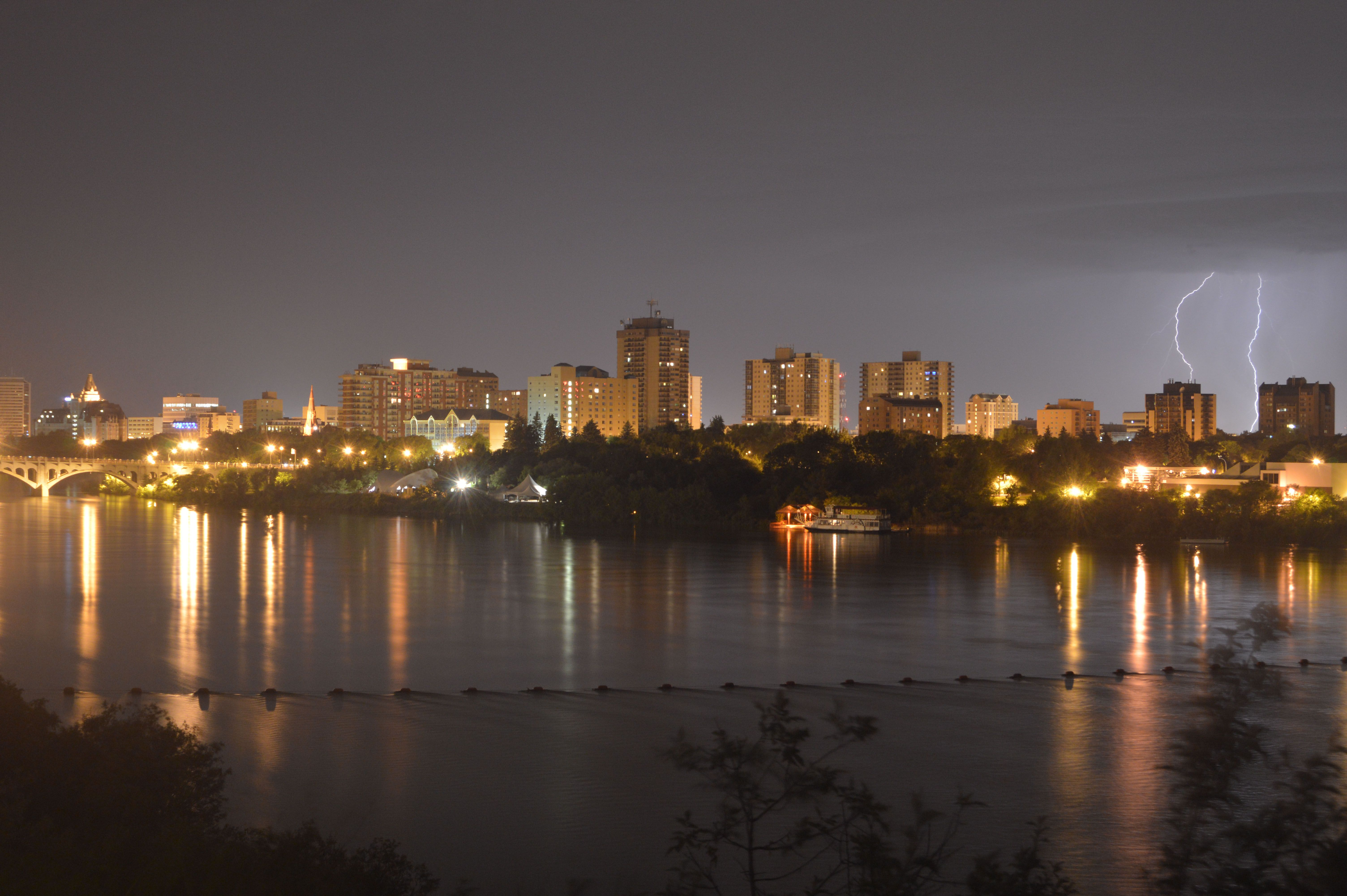 lightning in Saskatoon