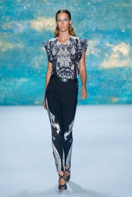 Monique Lhuillier Spring #Fashion show during #NYFW 2012