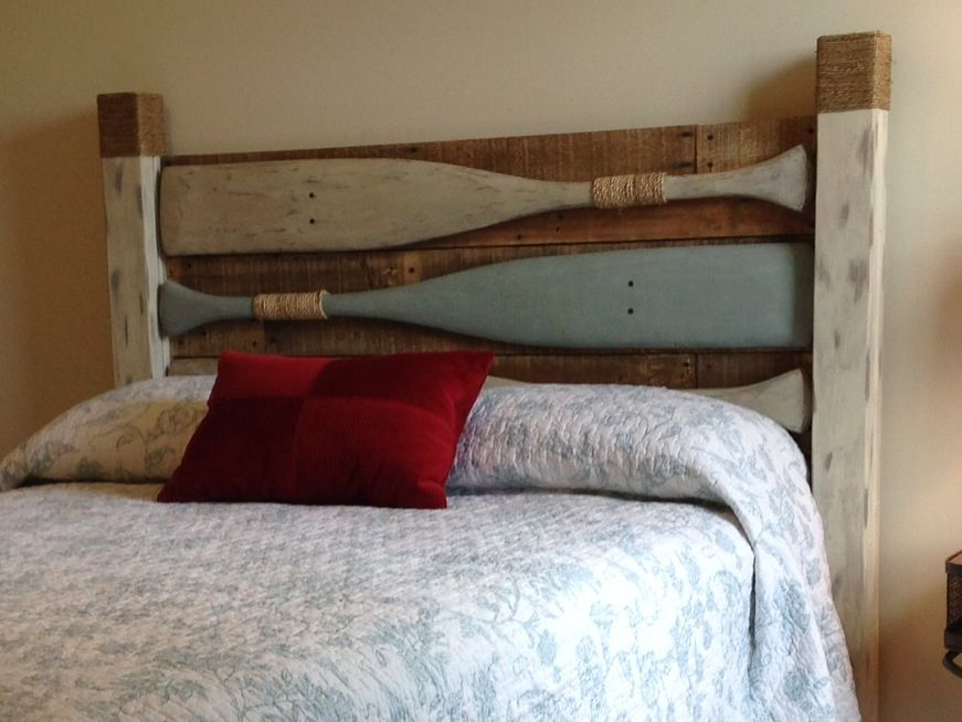 Oar Headboard Diy In 2019 River House Decor
