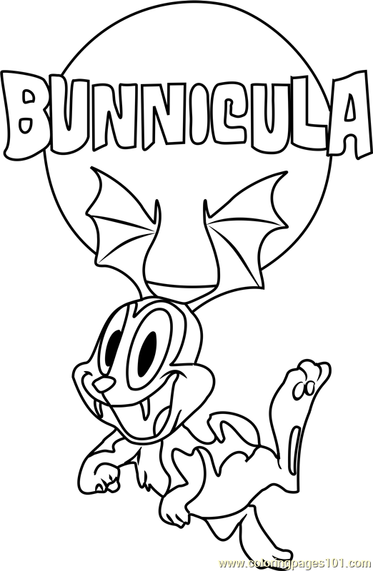 Bunnicula Flying Coloring Page Coloring Pages Cartoon Coloring Pages Color
